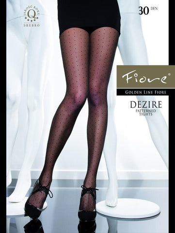 Dezire Polka Dot Patterned Tights 30 den - Carrie's Closet