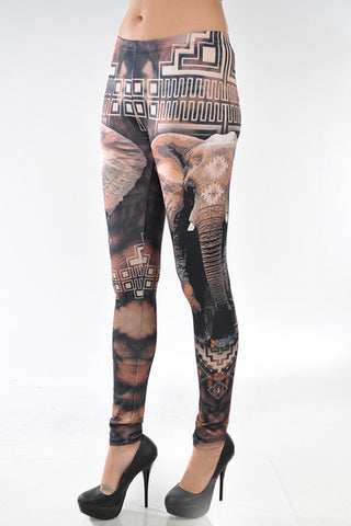 Aztecs & Elephant Leggings
