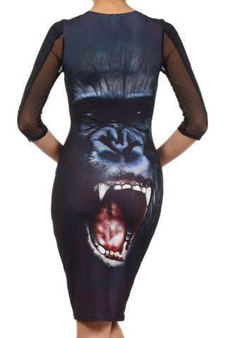 Rihanna Inspired Gorilla Dress - Carrie's Closet  - 1