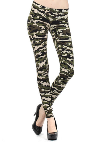 Sheen Camouflage Leggings - Carrie's Closet