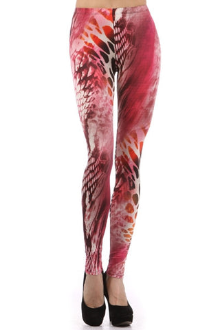 Fuschia Animal Print Leggings - Carrie's Closet