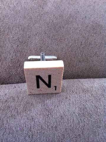 scrabble tiles cuff links - Carrie's Closet