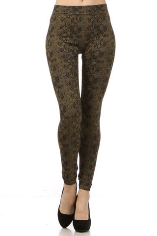 snake print leggings - Carrie's Closet