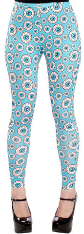 Optical Delusion Eye Eyeball Plus Size Leggings 1X - Carrie's Closet  - 1