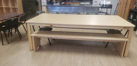 Large Classroom Table and benches