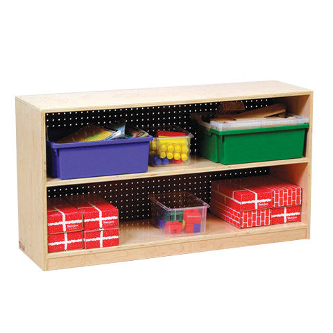 With different types of backing, this 2-shelf storage unit is great for your classroom needs.
