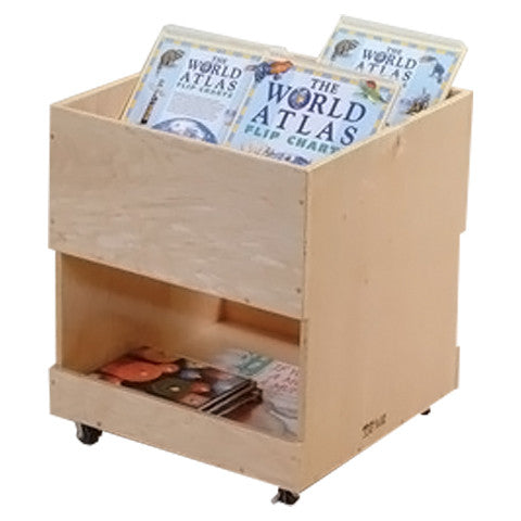 Small Mobile Book Cart