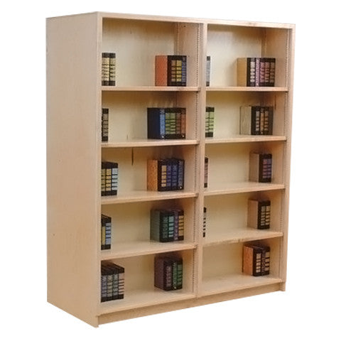 Double-Sided Library Bookcase