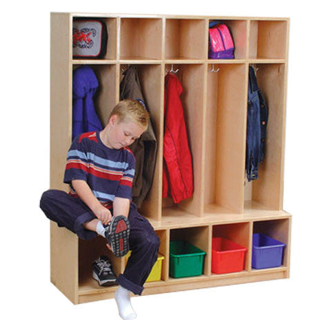 Coat Locker with Seat