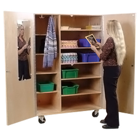 Mobile Wardrobe Storage Cabinet