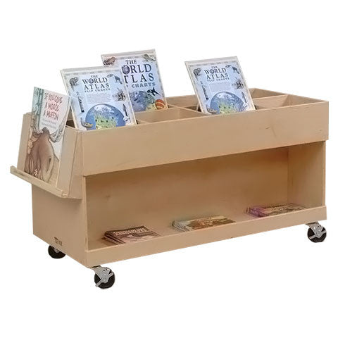 Large Mobile Book Cart