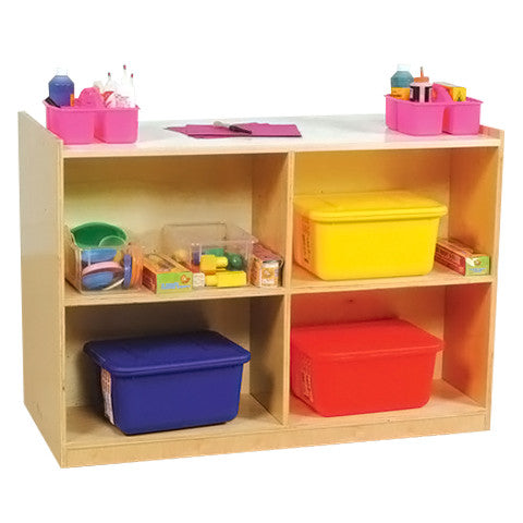 Double-Sided Melamine Storage Unit