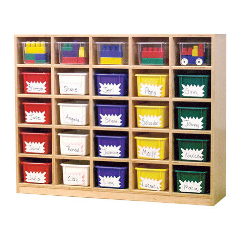25-Hole Cubby Storage Unit