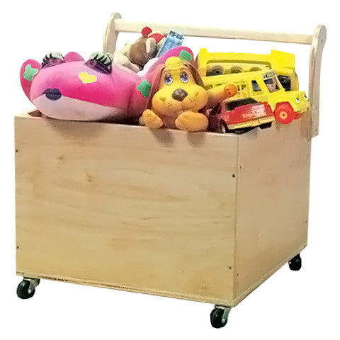 Square Mobile Toy Box W/ Handle