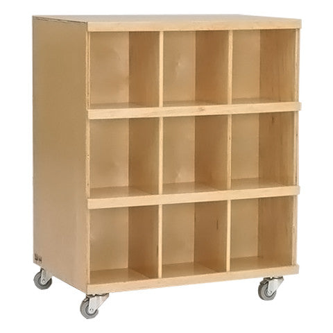 Defoe Mobile Double Sided Cubby Storage Units