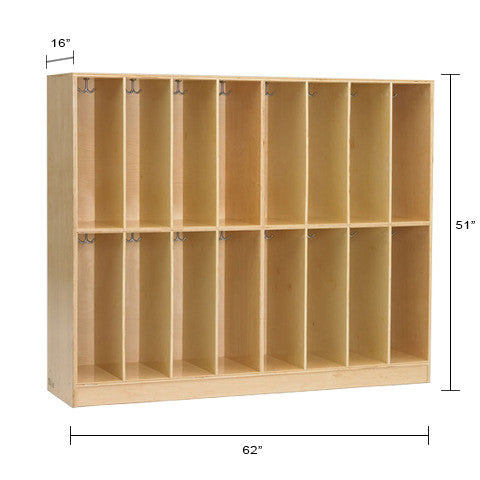 16 hole cubby, great for classroom storage.
