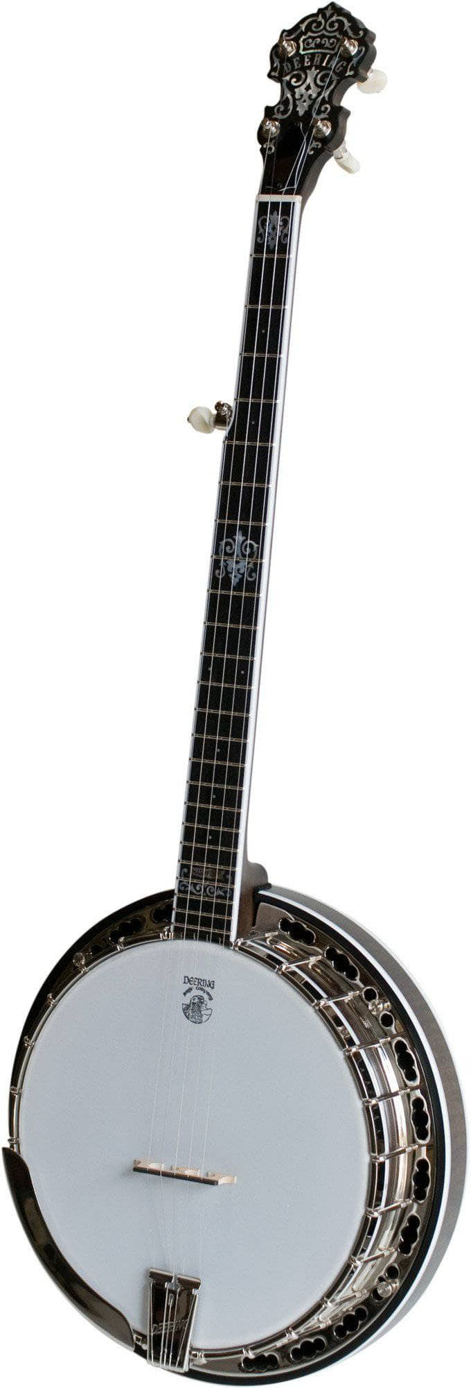 Deering 24 Fret John Hartford Banjo with -06- Bell Bronze Tone Ring - Banjo Studio