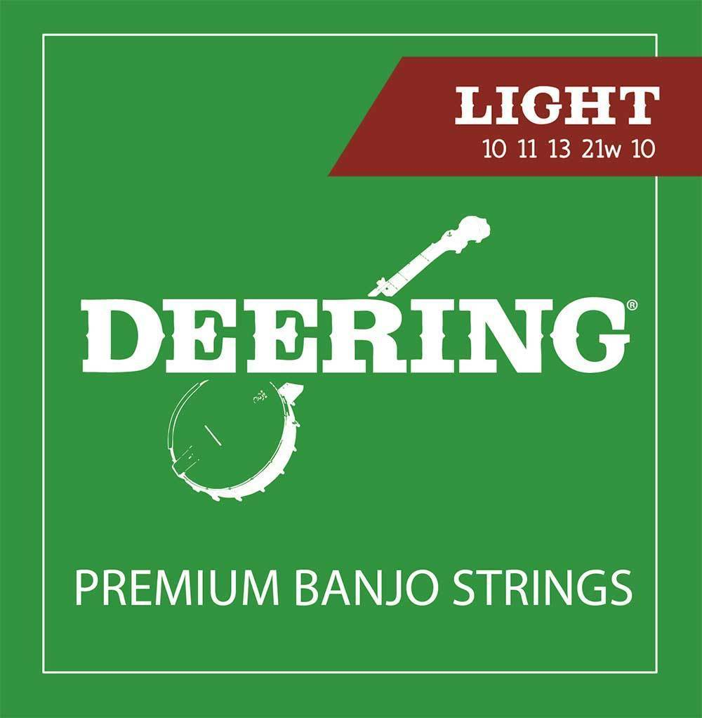 Deering 5-String Banjo Strings - Light Gauge - Banjo Studio