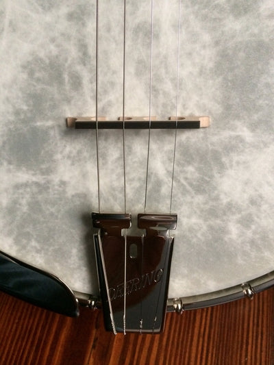 Deering Sierra Maple 19-Fret Tenor Banjo with Tubaphone Tone Ring - Banjo Studio  - 5