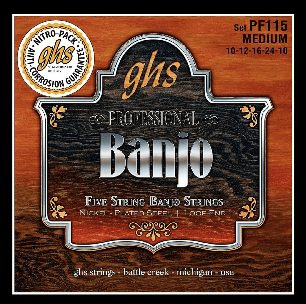 GHS Banjo Strings - Medium PF115 - Banjo Studio