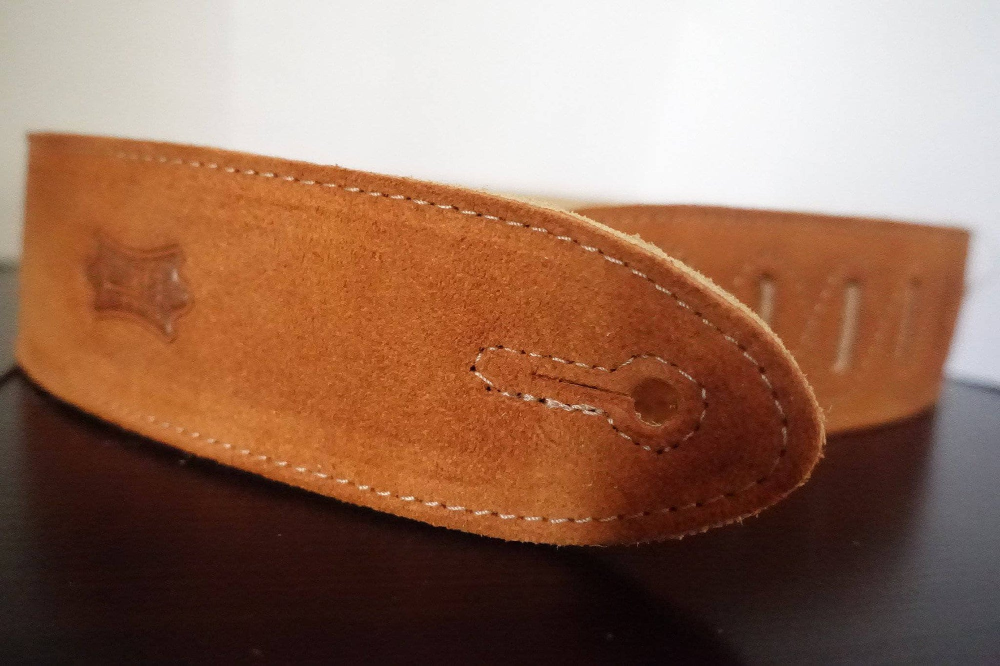 Levy's Leather Brown Suede Banjo Strap (MS14) - Banjo Studio