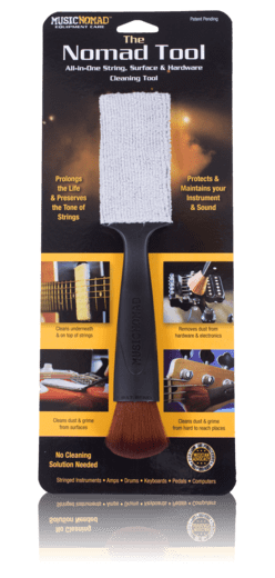 MusicNomad The Nomad Tool - All in 1 String, Body & Hardware Cleaning Tool - Banjo Studio