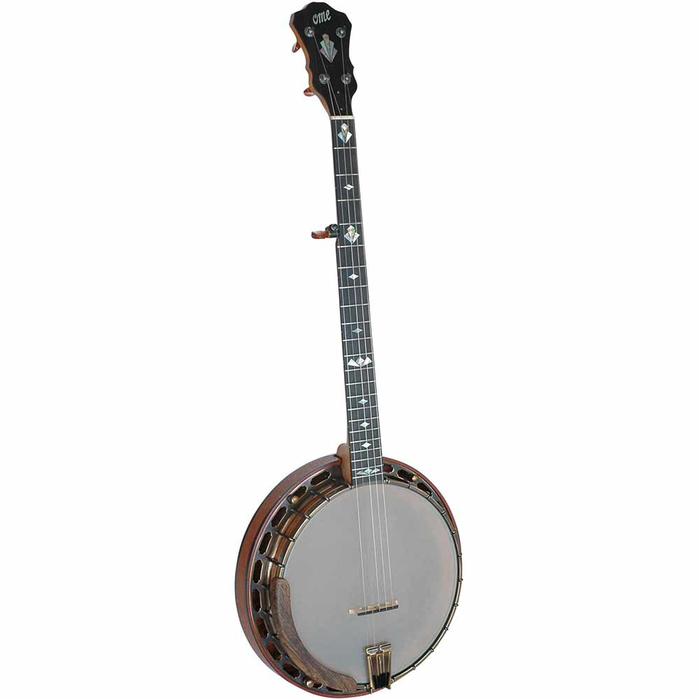 Ome Ikon 5 String Banjo with Megatone 200 Tone Ring