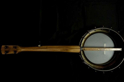 Pisgah Walnut Rambler Dobson A-Scale Banjo with Antique Brass Hardware
