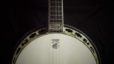 Used Deering John Hartford Banjo with Grenadillo Tone Ring