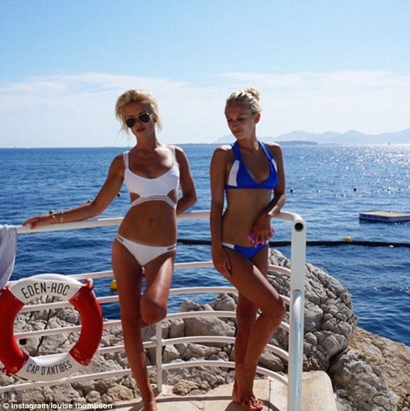 Made in Chelsea Tiffany Watson wears TODIVEFOR cross over bikini