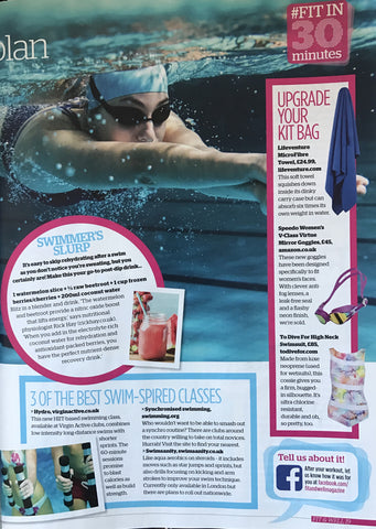 Fit & well magazine todivefor fins high neck swimsuit feature