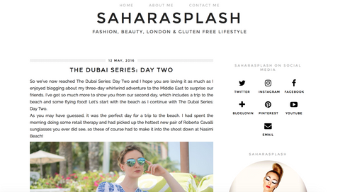 Sahara Splash article