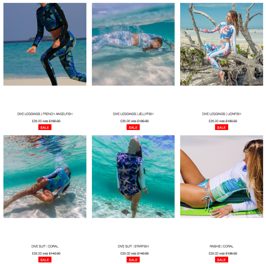 Clearance Sale Divewear