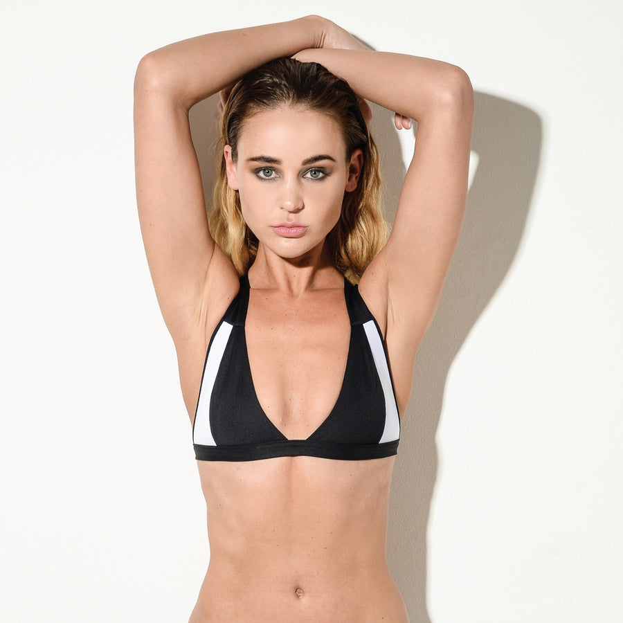 BLACK Cross Over Bikini Top