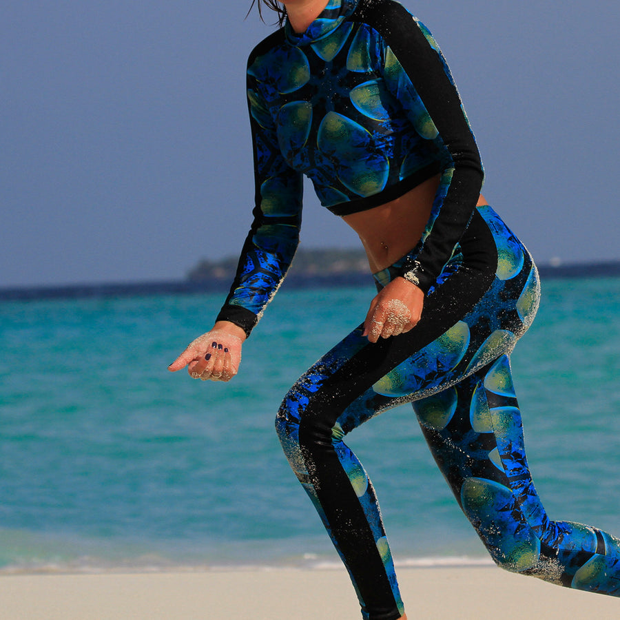 FRENCH ANGELFISH DIVE LEGGINGS