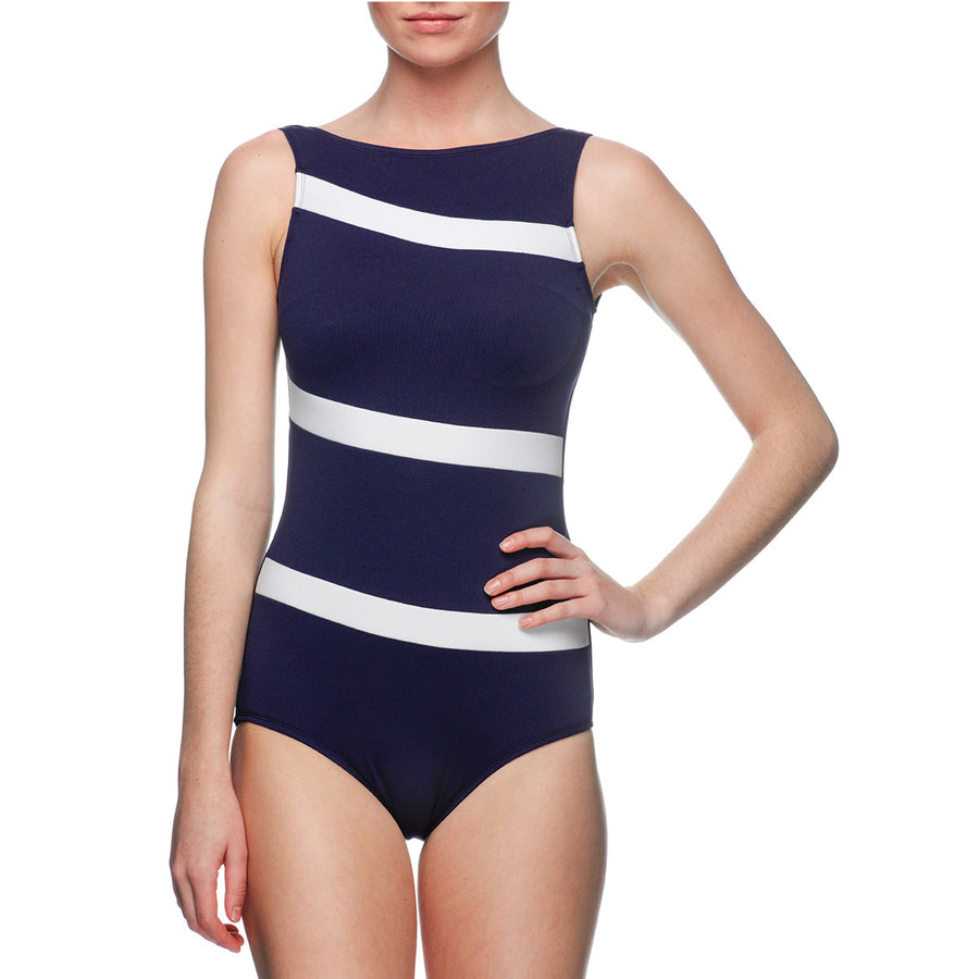 High Neck One Piece | Mare Blu Navy
