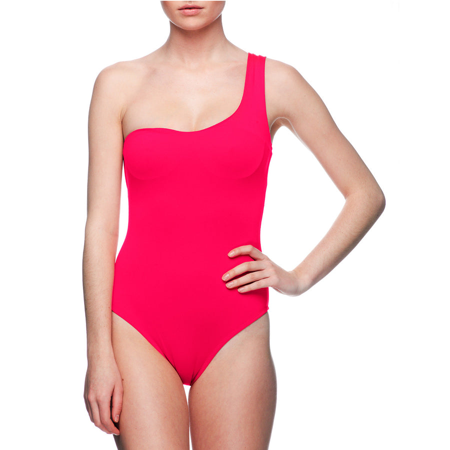 DIVA PINK ONE SHOULDER ONE PIECE