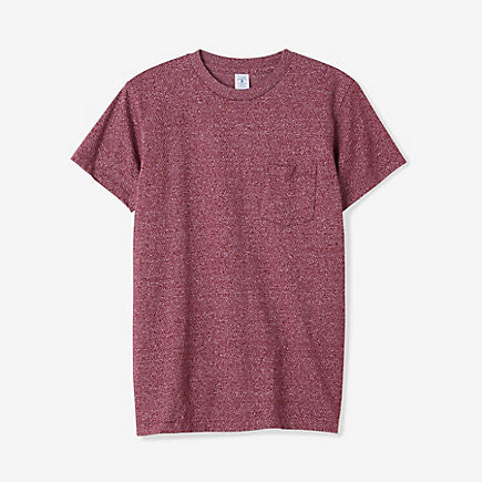 Mock Twist Pocket Tee | Heather Burgandy