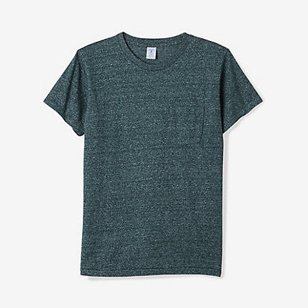 Mock Twist Pocket Tee | Heather Green