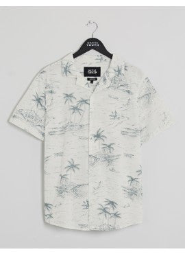 Hawaii Sketch Short Sleeve | White