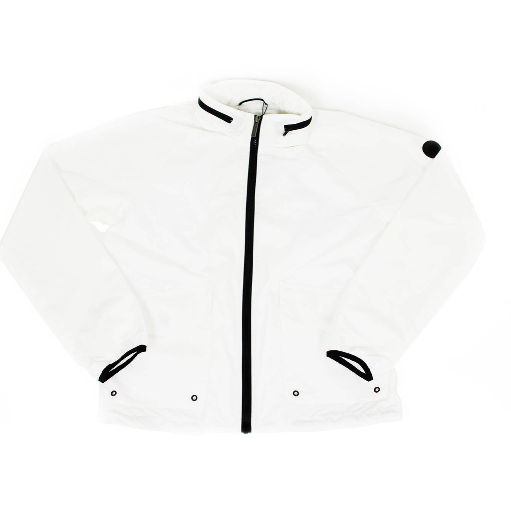 Tech Fabric Harrington Jacket | White