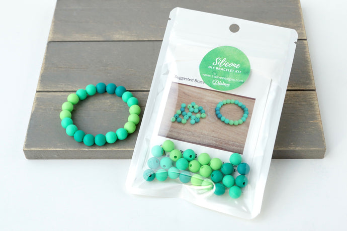 Green Ombre DIY Bracelet Kit