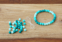 Load image into Gallery viewer, Turquoise Ombre *MINI* DIY Bracelet Kit
