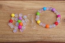 Load image into Gallery viewer, confetti rainbow silicone bead bracelet kit