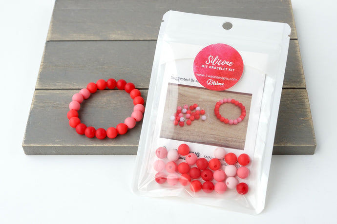 Red Ombre DIY Bracelet Kit