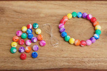 Load image into Gallery viewer, rainbow tie-dye silicone bead bracelet kit