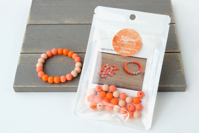 Orange Ombre DIY Bracelet Kit