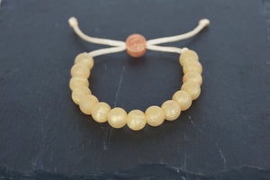 gold adjustable silicone bead bracelet