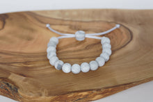 Load image into Gallery viewer, grey marble adjustable silicone bead bracelet