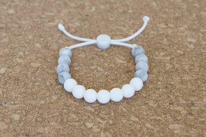 Custom adjustable silicone bead bracelet